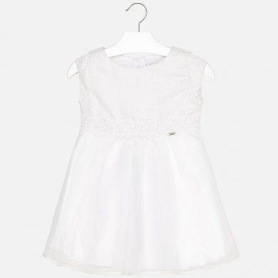 MAYORAL dívčí šaty bez rukávů béžová