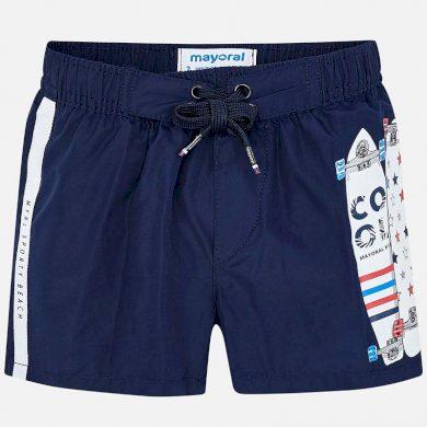 MAYORAL chlapecké plavky potisk skate tmavě modrá