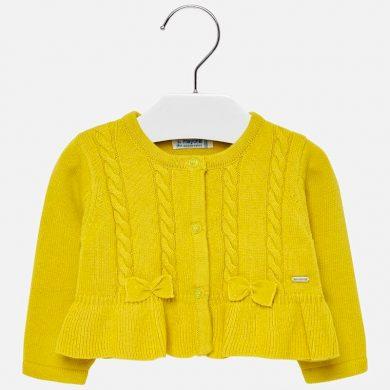 MAYORAL dívčí rozepínací svetřík žlutý