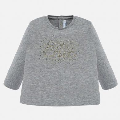 MAYORAL dívčí triko dl. rukáv CHIC, šedé