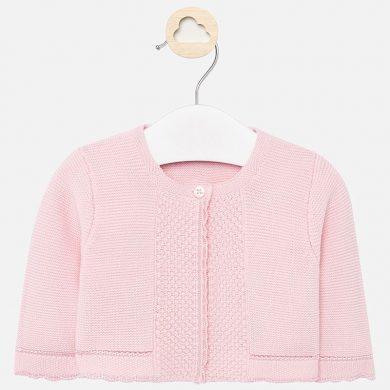 MAYORAL dívčí pletený svetr - sv. růžový
