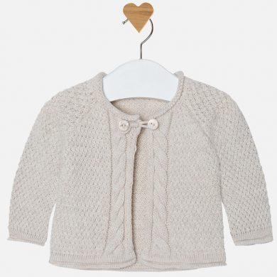 Mayoral Dívčí pletený svetr - béžový
