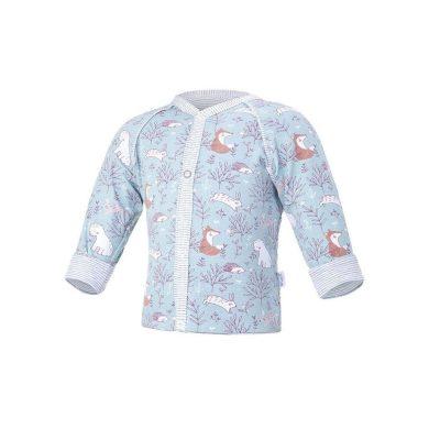 LITTLE ANGEL Kabátek podšitý Outlast® lišejník-cihlová liška/pruh bílošedý melír
