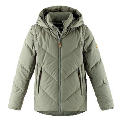 REIMA Dětská péřová bunda Beringer Greyish Green