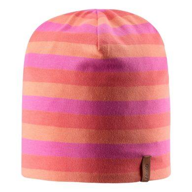 REIMA dívčí oboustranná čepice Tanssi - Candy pink