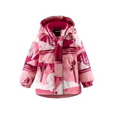 REIMA dívčí zimní bunda s membránou les Ruis Raspberry Pink