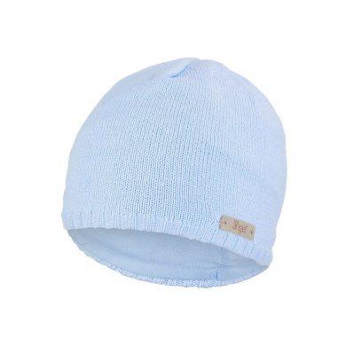 LITTLE ANGEL Čepice pletená hladká Outlast ® - sv.modrá