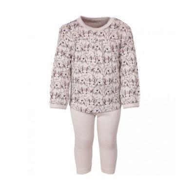 FIXONI dětské dvoudílné pyžamo králíci růžová