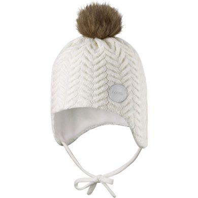 REIMA dětská zavazovací pletená čepice Murmeli White