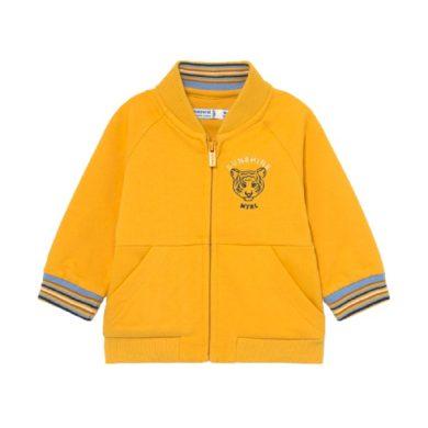 MAYORAL chlapecká mikina na zip, žlutá