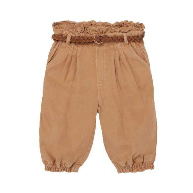 MAYORAL dívčí kalhoty s páskem, hnědá