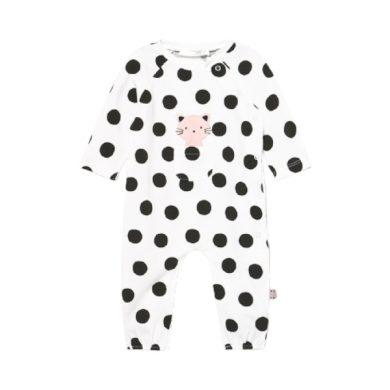 MAYORAL dívčí overal DR s puntíky a kočičkou, černá/bílá