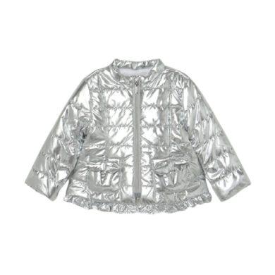 MAYORAL dívčí přechodová bunda stříbrná