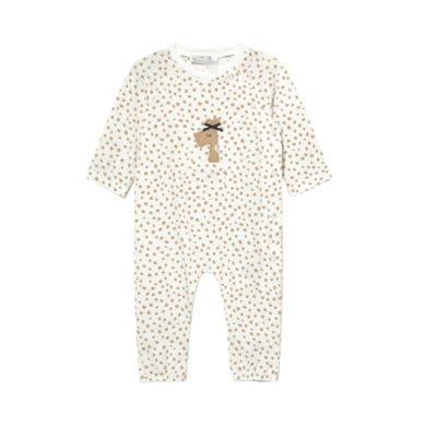 MAYORAL dívčí overal  s puntíky a žirafou, hnědá/bílá