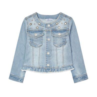 MAYORAL dívčí riflová bunda světle modrá