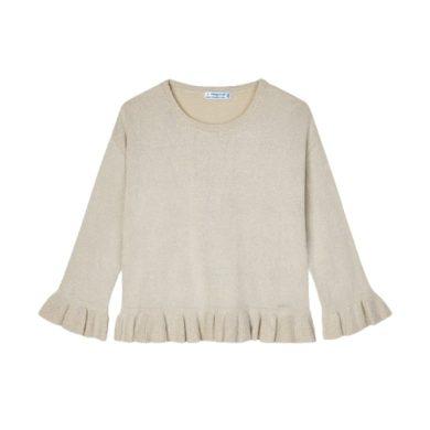 MAYORAL dívčí svetr třpytivý, béžová