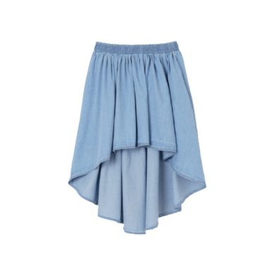MAYORAL dívčí sukně asymetrický střih, světle modrá