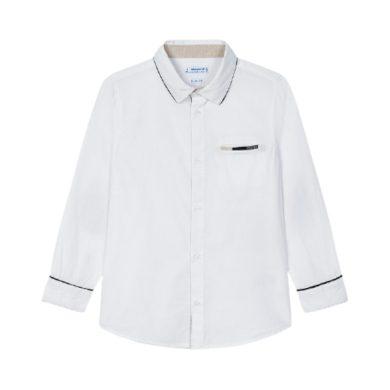 MAYORAL chlapecká košile DR bílá s modrým detailem