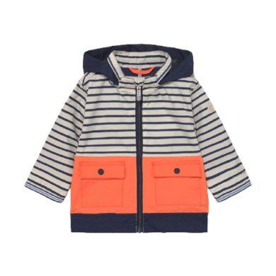 MAYORAL chlapecká jarní bunda s kapucí, modrá/bílá/oranžová