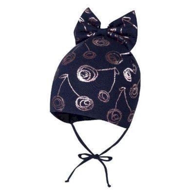 BROEL dětská čepice s mašlí Marzena tmavě modrá