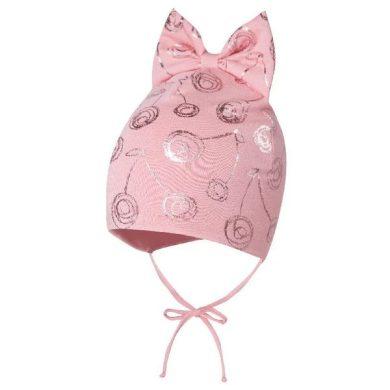 BROEL dětská čepice s mašlí Marzena růžová