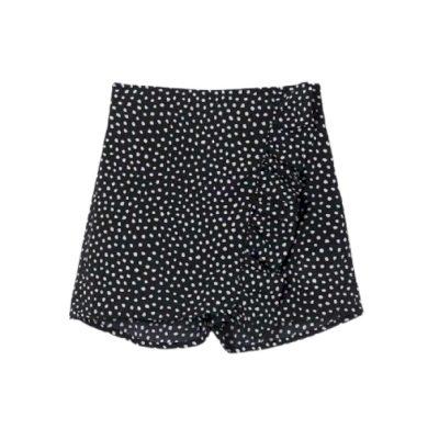 MAYORAL dívčí kraťasová sukně s puntíky, černá/bílá