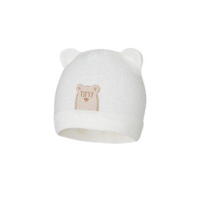 BROEL kojenecká čepice s oušky Atanazy bílá