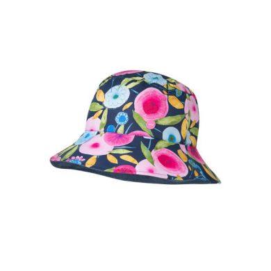 BROEL dívčí klobouk květy Natasza tmavá