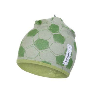 LITTLE ANGEL Čepice podšitá Outlast® - zelená fotbal/zelená matcha