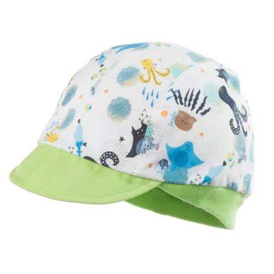 JAMIKS chlapecká čepice s kšiltem JAFAR bílá/zelená