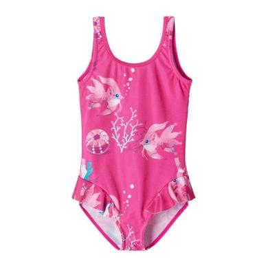 REIMA dívčí jednodílné plavky Korfu Fuchsia pink