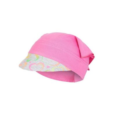 LITTLE ANGEL Šátek tenký kšilt Outlast® - tm.růžová/neon srdce