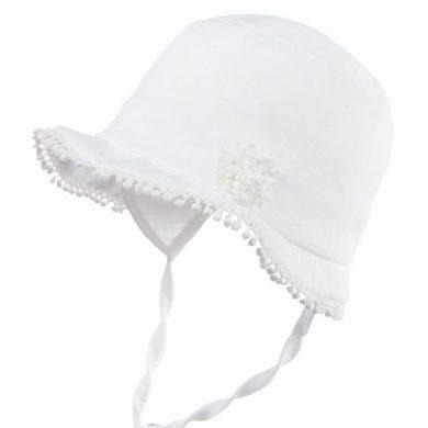 JAMIKS dívčí klobouk DANITA bílý s ozdobami