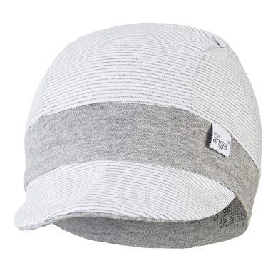 LITTLE ANGEL Kšiltovka tenká pruh Outlast® - pruh bílošedý melír/šedý melír