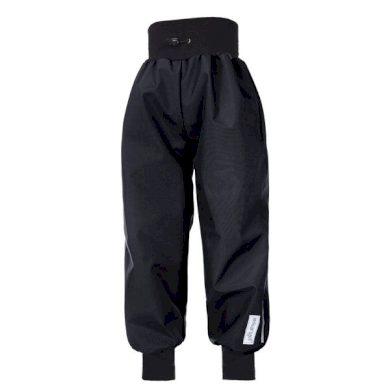 Kalhoty softshell tenké náplet velikost 104, barva černá