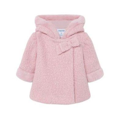 MAYORAL dívčí kabát Shearling růžová
