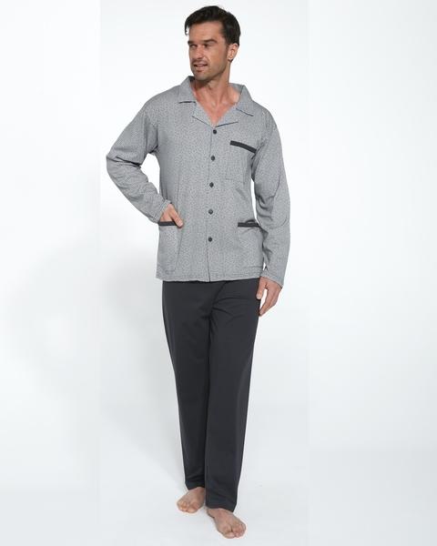 CORNETTE Pánské pyžamo 114/46 barva šedá, velikost L