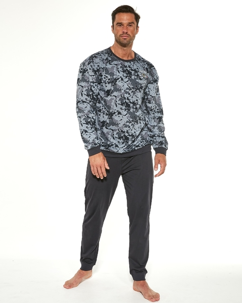 CORNETTE Pánské pyžamo 457/177 AIR FORCE barva šedá, velikost M