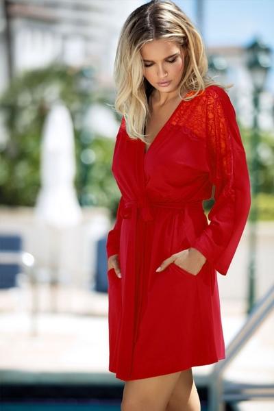 DKAREN Dámský župan FIBI red barva červená, velikost S