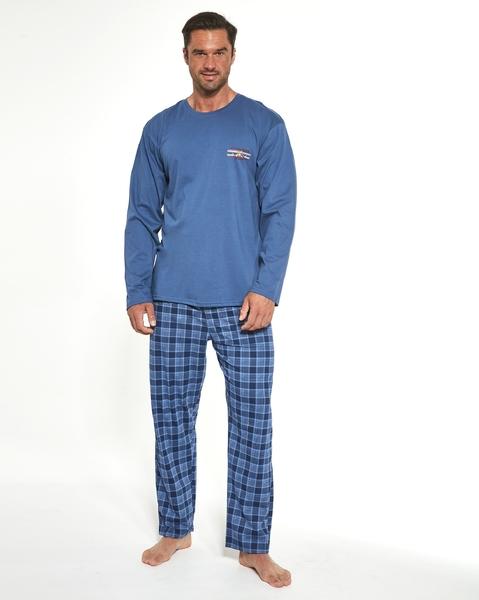 CORNETTE Pánské pyžamo 124/179 MOUTAIN DLUGI barva modrá, velikost M