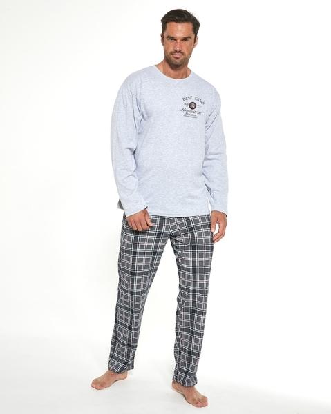 CORNETTE Pánské pyžamo 124/185 BASE CAMP 3 barva šedá, velikost M