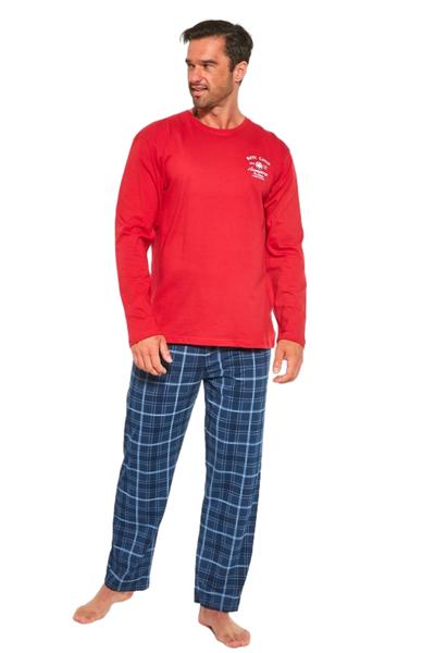 CORNETTE Pánské pyžamo 124/183 Base Camp barva červená, velikost M
