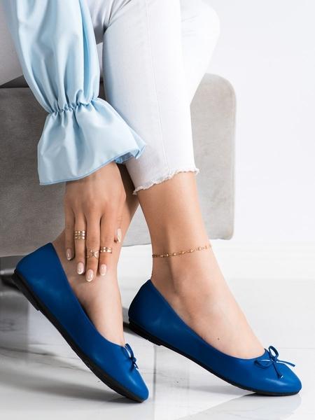DIAMANTIQUE Originální modré dámské  baleríny bez podpatku velikost 36
