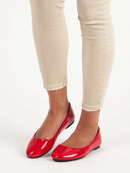 DIAMANTIQUE Trendy  baleríny červené dámské bez podpatku velikost 36