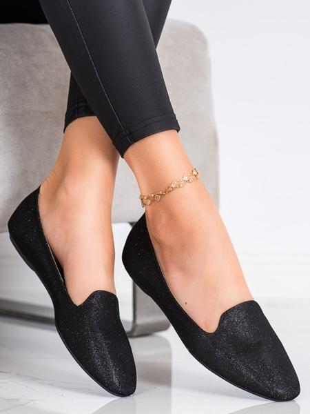 SUPER MODE Luxusní dámské  baleríny černé bez podpatku velikost 38