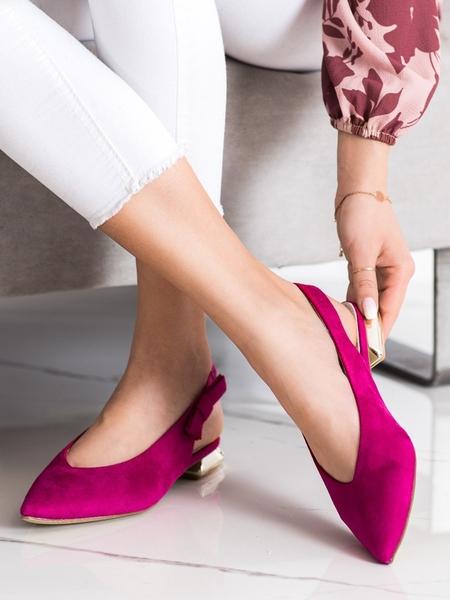 GOODIN Trendy  lodičky dámské růžové na plochém podpatku velikost 37