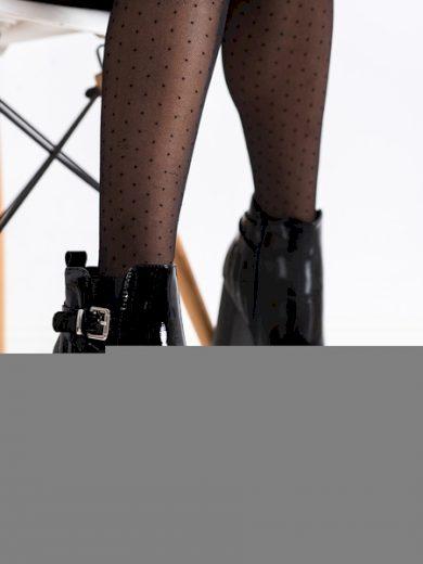 ERYNN Pohodlné  kotníčkové boty černé dámské na širokém podpatku velikost 36