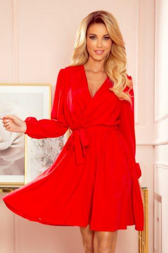 NUMOCO Dámské šaty  339-1 barva červená, velikost S/M