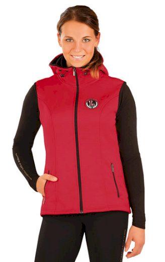 LITEX Vesta dámská s kapucí J1051 barva červená, velikost XS