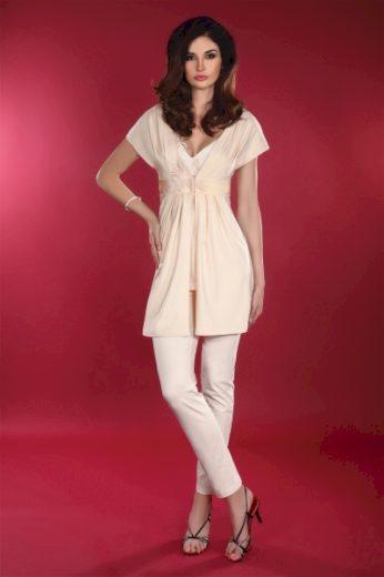 LivCo CORSETTI FASHION Dámský župan Shanessa dressing gown barva béžová, velikost L